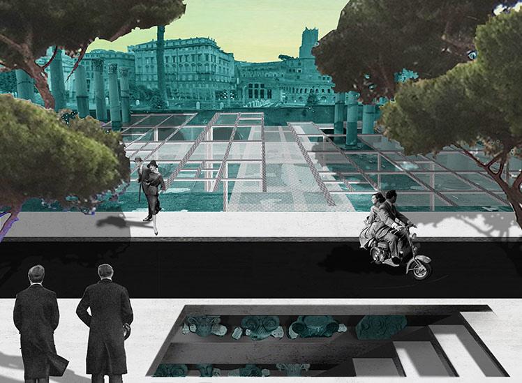 Vista sul Foro di Traiano