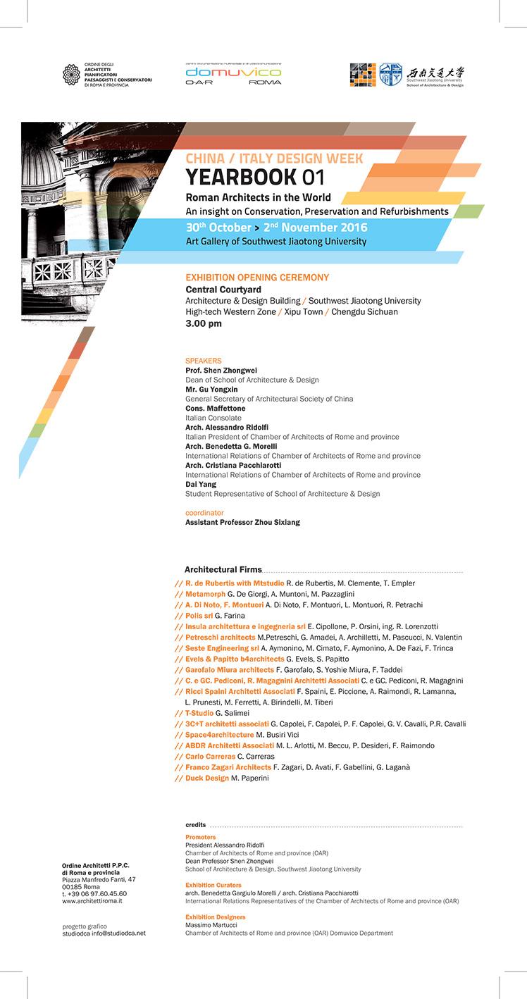 YEARBOOK01ROMAN ARCHITECTS IN THE WORLD Ordine Degli Architetti Di