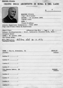 Scheda anagrafica di Plinio Marconi