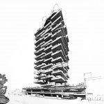 """9 - Progetto della torre """"Bel Horizon Residence"""", Montecarlo (Monaco); con ing. A. Michetti - Vista prospettica"""