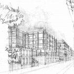 1 - Progetto di edificio per abitazioni in via Francesco Crispi, Napoli - Vista prospettica
