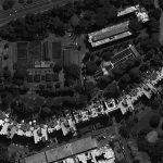 10 - Complesso residenziale di 207 alloggi nel PdZ n.10 - 11 Casal de' Pazzi - Nomentano, Roma, per Consorzio Galileo '67; progetto CoPER, direzione lavori con ing. F. De Trovato - Vista zenitale