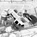 """10 -  Piano di ammodernamento e sviluppo a Breve Termine, Aeroporto """"L. Da Vinci"""", Fiumicino (RM), per ADR - Planimetria generale"""