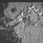 9 -  Vista del plastico della zona di recupero del vallo ferroviario con piastra attrezzata dalla Caffarella a piazza Ponte Lungo - Progetto U.R.B.I.S.