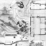 10 -  Casa unifamiliare ad Albano (RM); con F. Dinelli - Pianta con sezione e vista prospettica