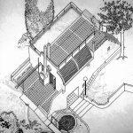 11 -  Casa unifamiliare ad Albano (RM); con F. Dinelli - Vista assonometrica