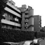 12 - Complesso residenziale di 207 alloggi nel PdZ n.10 - 11 Casal de' Pazzi - Nomentano, Roma, per Consorzio Galileo '67; progetto CoPER, direzione lavori con ing. F. De Trovato - Vista esterna