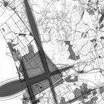 """13 -  Analisi del rumore aeronautico, Aeroporto """"L. Da Vinci"""", Fiumicino (RM), per ADR - Planimetria con sviluppo delle isofoniche"""