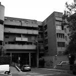 14 - Complesso residenziale di 207 alloggi nel PdZ n.10 - 11 Casal de' Pazzi - Nomentano, Roma, per Consorzio Galileo '67; progetto CoPER, direzione lavori con ing. F. De Trovato - Vista esterna