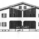 14 - Case a schiera bifamiliari e trifamiliari a Monterosi (VT) - Prospetto