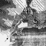 """14 - Progetto di revisione del PRG di Salerno; in collaborazione.  Concorso, I premio ex aequo, motto """"Il futuro ha un cuore antico"""" - Stralcio planimetrico"""