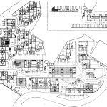 17 - Progetto di massima ed esecutivo della sistemazione urbanistica ed edilizia di 250 alloggi ad Ancona - Verbena, per Coop. Stamura; progetto CoPER - Planimetria generale