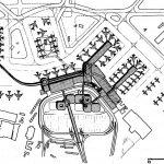 """17- Aggiornamento del piano di sviluppo area centrale, Aeroporto """"L. Da Vinci"""", Fiumicino (RM), per ADR; con RSH (Jacksonville, Florida) - Planimetria generale"""