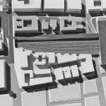 13 - Vista di dettaglio del plastico generale - Progetto U.R.B.I.S.
