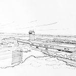20 - Progetto di massima per l'ampliamento dell'aerostazione dell'Aeroporto Vnukovo, Mosca; con Soc. Bonifica e Infrasud - Vista prospettica
