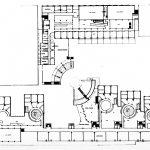 1 - Progetto di liceo ginnasio, istituto d'arte ed abitazioni su un'area adiacente Palazzo dei Diamanti, Ferrara; con AUA. Concorso, II classificato - Pianta