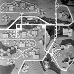 2 - Progetto della Fiera Internazionale di Kuala Lumpur e di una città satellite (Malaja). Concorso internazionale, I classificato - Vista del plastico