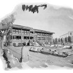 1 - Palazzo della Pretura ad Albano Laziale (RM) - Vista prospettica esterna