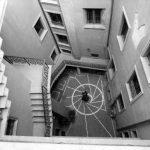 20 - Restauro di edificio residenziale in via dell'Orso 80, Roma - Vista della chiostrina interna
