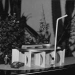 20 - Stazione di servizio Casilina - Aquino sull'Autostrada Roma - Napoli con parcheggio e area attrezzata per la sosta, per Società Autostrade; con R. Giordano e geom. D. Iacobucci. Concorso - Vista del plastico