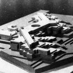 21 - Progetto di complesso scolastico da realizzarsi in via Damiano Chiesa, Roma. Concorso, I premio - Vista del plastico