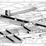 """21 - Proposta sul tema """"Il Centro altrove. Periferie e nuove centralità nelle aree metropolitane"""", Sesto S. Giovanni (MI), su invito della Triennale; con A. De Cesaris e L. Mattioli - Vista prospettica"""