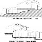 20 - Casa unifamiliare in via Nino D'Andrea, Guidonia Montecelio (RM), con R. Carovana - Prospetti