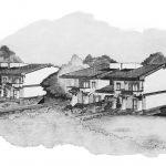 23 - Ville bifamiliari a Marino (RM) - Vista prospettica d'insieme