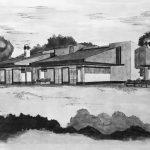 """24 - Villa bifamiliare nella lottizzazione """"Murobianco"""", Albano Laziale (RM) - Vista prospettica esterna"""