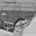 24 - Piano di sviluppo con schema della nuova aerostazione, Aeroporto di Sofia; con ADR Engineering. Gara di appalto - Planimetria generale con zonizzazione