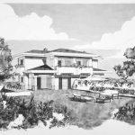 25 - Villa bifamiliare ad Albano Laziale (RM) - Vista prospettica esterna