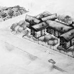 26 - Edifici residenziali plurifamiliari a Cecchina, Albano Laziale (RM) - Vista prospettica d'insieme