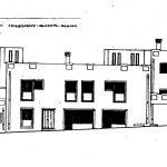 24 -  Ristrutturazione, ampliamento, consolidamento e trasformazione in residence di un edificio a Chiaramonte Gulfi (RG); con V. Alescio (coll.) - Prospetto