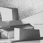 24 - Teatro e centro culturale multimediale nell'ex Consorzio Agrario, Pomezia (RM); con M. C. Calvani,  A. De Cesaris, C. Prati e F. Tegolini. Concorso nazionale, II premio - Volumetria,