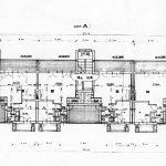 27 -  Trentadue appartamenti in via delle Vigne, Roma, per Coop. ed. G. Mazzini 1872 Arl - Pianta piano primo