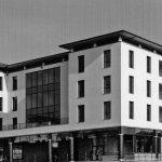 34 - Edificio per uffici UMI H21 sede del CNR - Toscana ed edifici commerciali e residenziali UMI C7, C8 e C9 nel PdR dell'ex area Fiat, Firenze - Novoli - Vista esterna