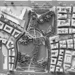 37 - Piano di Recupero ed edifici  UMI C7 e UMI H22 a destinazione residenziale e commerciale nel PdR dell'ex area Fiat, Firenze - Novoli - Vista zenitale del plastico