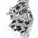 5 -  Progetto del Nuovo Policlinico di Napoli; con C. Cocchia (capogruppo), F. Cocchia e O. Frazzi. Concorso nazionale, I classificato - Planimetria generale