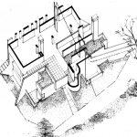 3 -  Villa unifamiliare a Civita Castellana (VT) - Spaccato assonometrico