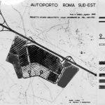 5 - Progetto planovolumetrico dell'autoporto Roma Sud-Est; con Studio Architetti - Planimetria generale con zonizzazione
