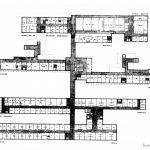 6 - Progetto della clinica tipo del Policlinico di Napoli - Pianta