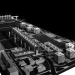 6 - Progetto planovolumetrico per un comprensorio in lungotevere dei Papareschi, Roma; con G. Sterbini - Vista del plastico