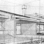 7 - Scuola elementare e media a Tor San Lorenzo, Ardea (RM); con D. Ciocca - Vista prospettica