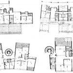 6 - Complesso residenziale di oltre 1.000 alloggi nel PdZ di Vigna Murata, per Consorzio di Cooperative Solidarietà Sociale; con AUA - Piante tipologie alloggi