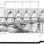 """8 - Biblioteca nella ex Cappella di Villa Mirafiori, Facoltà di Lettere e Filosofia """"Sapienza"""" Università di Roma; con C. Chiarini - Sezione"""