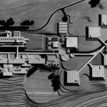 8 - Progetto del nuovo ospedale psichiatrico provinciale a Fermo (AP); con Studio Architetti. Concorso nazionale, senza seguito per sopraggiunta L. 180/1978 - Vista zenitale del plastico