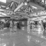 """10 - Ampliamento e ristrutturazione dell'Aeroporto """"Leonardo Da Vinci"""", Fiumicino (RM), per ADR SpA; con Studio Valle e in collaborazione con ATI Bonifica e SPEA - Vista interna del Satellite Ovest (da Archivio fotografico di ADR)"""