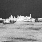 11 - Progetto del nuovo complesso ospedaliero psichiatrico provinciale a Fermo (AP); capogrupo con altri. Concorso nazionale, II premio ex aequo (I premio non assegnato) - Vista del plastico