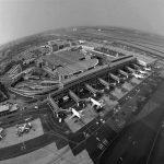 11 - Aerostazione e nuovo molo internazionale dell'Aeroporto internazionale di Johannesburg (Sud Africa), per ADR (azionista ACSA); con ingg. R. Paschina e C. Bassetti. Realizzato dalla ACSA - Vista aerea