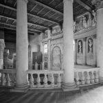 12 - Progetto di ricostruzione della nuova scena prospettica nel Teatro Olimpico di Sabbioneta (MN); con A. Di Noto. Concorso internazionale CEE, vincitore - Vista interna